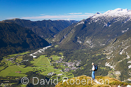 Overlooking the Bovec Basin from Svinjak