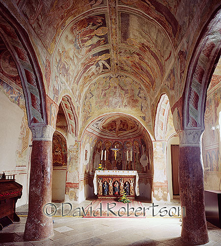The frescoes of the Church of the Holy Trinity, Hrastovlje, Primorska, Slovenia.