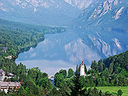 Lake Bohinj and Ribcev Laz from Pec