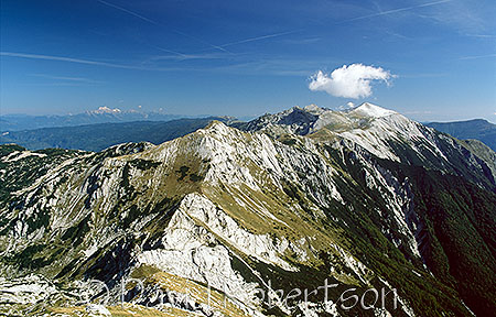 View towards Šija and Rodica from Vogel