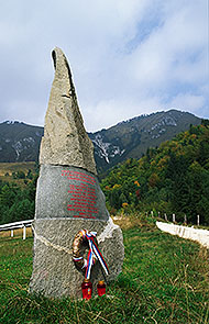 WWII Partisan memorial below Kamniški vrh