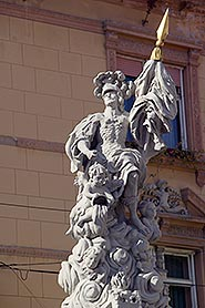 St Florian Column in Mestni trg