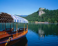 Pletna and Bled Castle, Slovenia