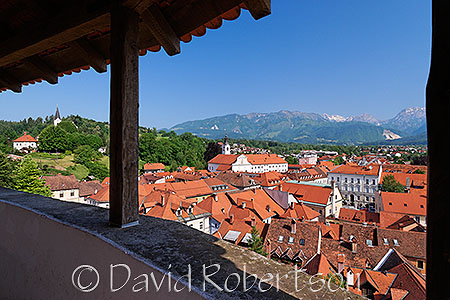 Rooftop view from the Romanesque Chapel, Kamnik