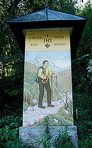 Walkers shrine at Stahovica