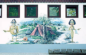Mural at Camp Danica, Bohinj
